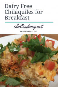 Dairy Free Chilaquiles Breakfast Casserole