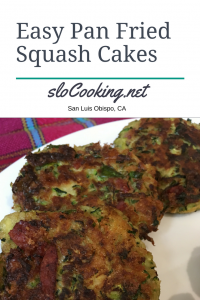 Fried Squash Cakes