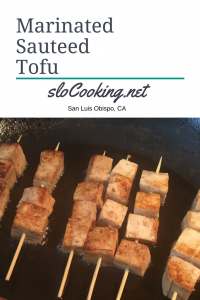 Sautéed Marinated Tofu