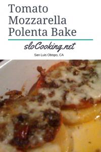 tomato mozzarella polenta bake