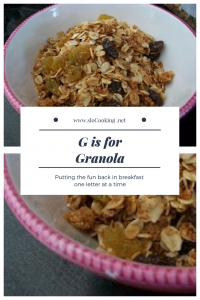 G is for Granola sloCooking.net