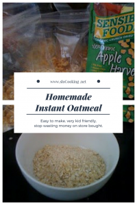 Homemade Instant Oatmeal - sloCooking.net