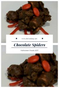 Chocolate Spiders sloCooking.net Halloween Foods 2017