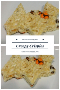 Creepy Crispies sloCooking.net Halloween Foods 2017