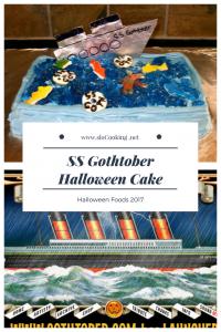 SS Gothtober Halloween Cake sloCooking.net Halloween Foods 2017