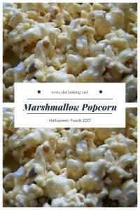 Marshmallow Popcorn sloCooking.net Halloween Food 2017