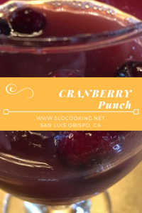 Cranberry Punch from sloCooking.net