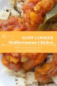 Slow Cooker Mediterranean Chicken from sloCooking.net