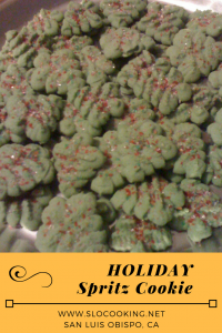 Holiday Spritz Cookie from sloCooking.net