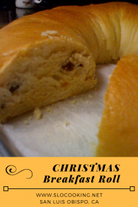 Christmas Breakfast Roll from sloCooking.net