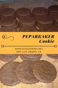 Peparkaker Cookie from sloCooking.net