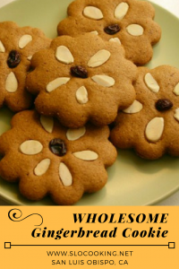 Wholesome Gingerbread Cookie from sloCooking.net