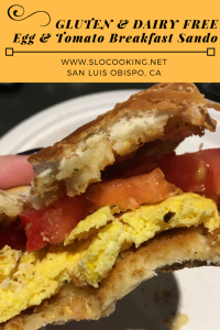 Egg Breakfast Sandwich from sloCooking.net