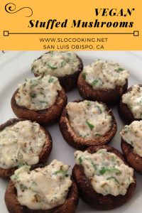 Dairy Free Stuffed Mushrooms from sloCooking.net