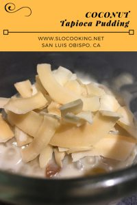 Coconut Tapioca Pudding from sloCooking.net