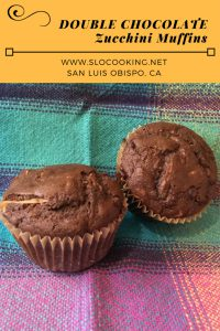 Double Chocolate Zucchini Muffins from sloCooking.net