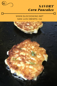 Savory Corn Pancakes from sloCooking.net