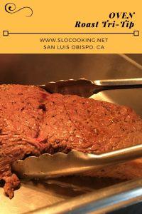 oven roast tri-tip sloCooking.net #beef #easyrecipe