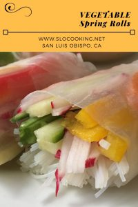 vegetable spring rolls slocooking.net #vegetables #vegetarian