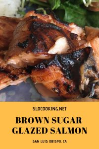 brown sugar glazed salmon #slocooking