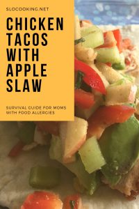 Chicken Tacos Apple Salsa by sloCooking.net #tacos #apple #chicken