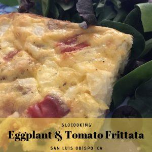 eggplant frittata #slocooking #dairyfree