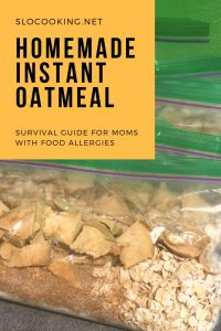 Homemade Instant Oatmeal by sloCooking.net #breakfast #oatmeal