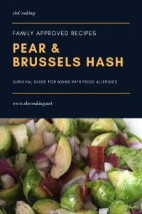 Pear and Brussels Sprouts Hash by sloCooking.net