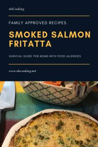 Smoked Salmon Fritatta by sloCooking.net #breakfast #eggs
