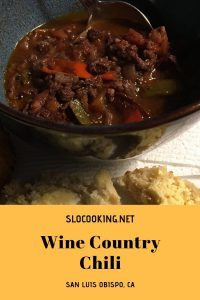 wine country chili from slocooking.net #chili #slocooking #crockpot