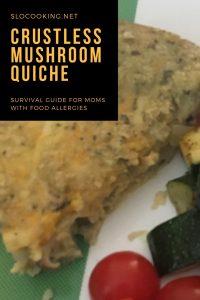 Crustless Mushroom Quiche from sloCooking.net #dairyfree #glutenfree #breakfast
