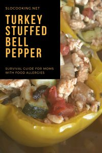 turkey stuffed bell peppers from sloCooking.net #stuffedpeppers #easyrecipe
