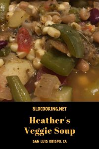Heather's vegetable soup from sloCooking.net