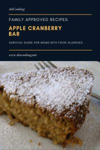Apple Cranberry Bar from sloCooking.net #dairyfree #glutenfree #baking #dessert