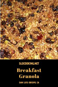 Granola for Breakfast from slocooking.net #breakfast