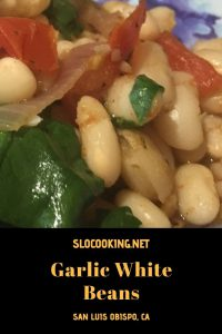 Garlic white beans from sloCooking.net #beans #sidedish #easyrecipe
