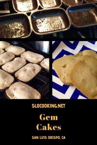 Gem cakes from sloCooking.net #baking #castiron #foodhistory