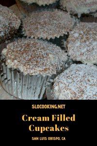 Cream Filled Cupcakes from sloCooking.net #baking #dairyfree #glutenfree #cupcakes