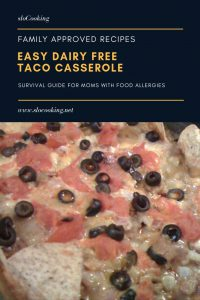 Dairy Free Taco Casserole from sloCooking.net #taco #casserole #dairyfree